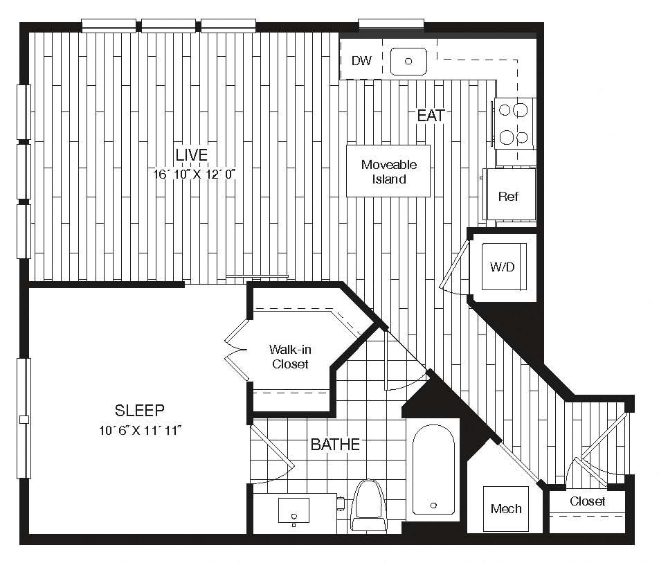 Apartment 27-222 floorplan