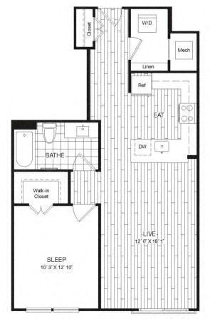 Apartment 29-525 floorplan