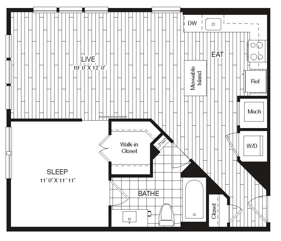 Apartment 27-429 floorplan