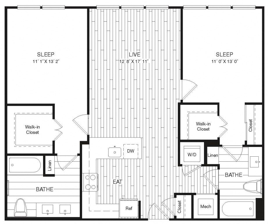 Apartment 29-342 floorplan