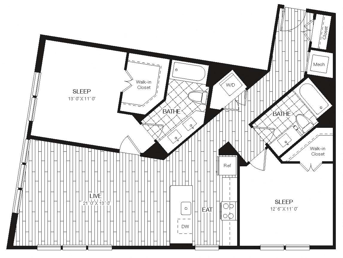 Apartment 27-308 floorplan