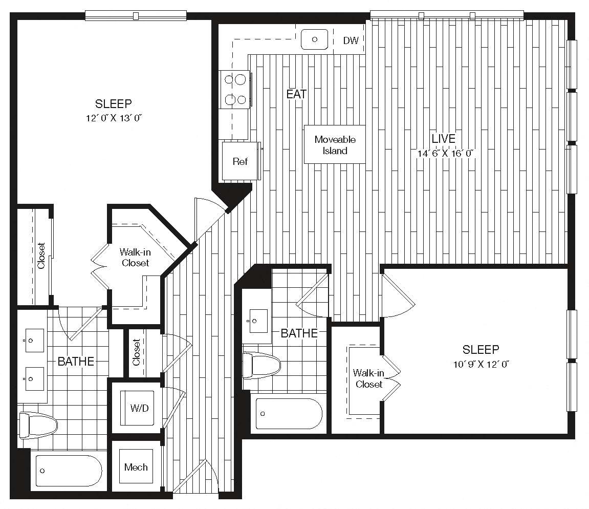 Apartment 27-235 floorplan