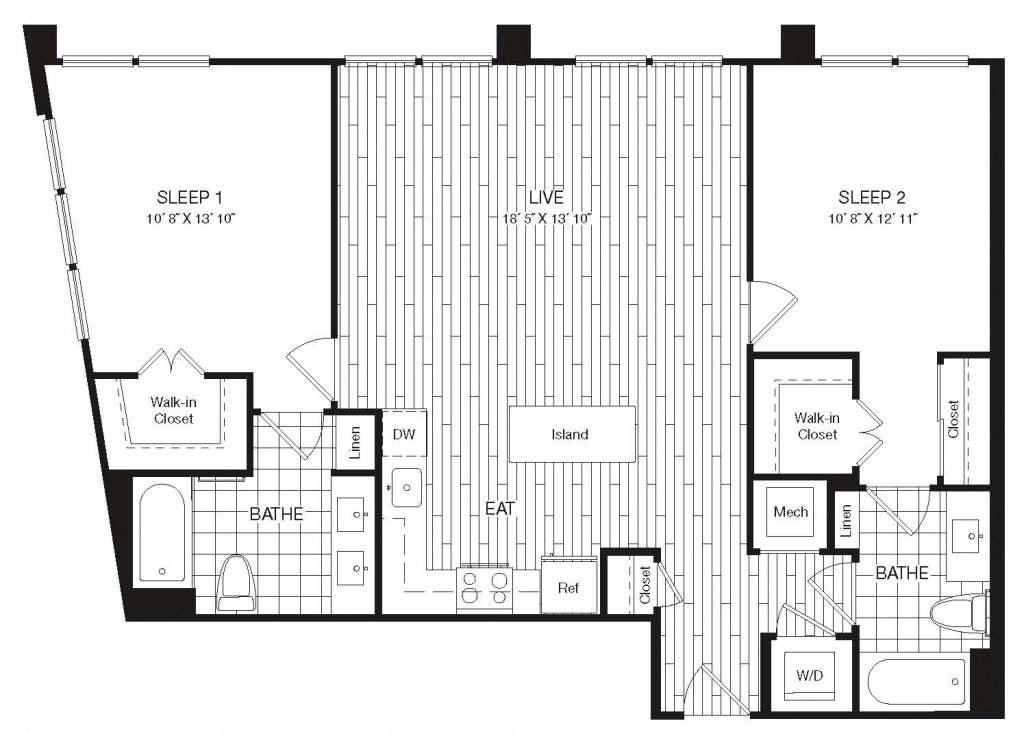 Apartment 29-614 floorplan
