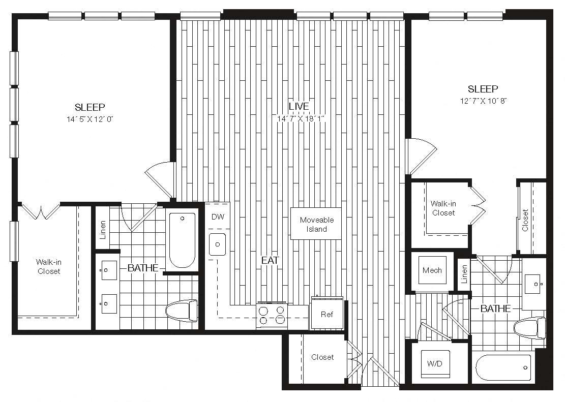 Apartment 27-430 floorplan