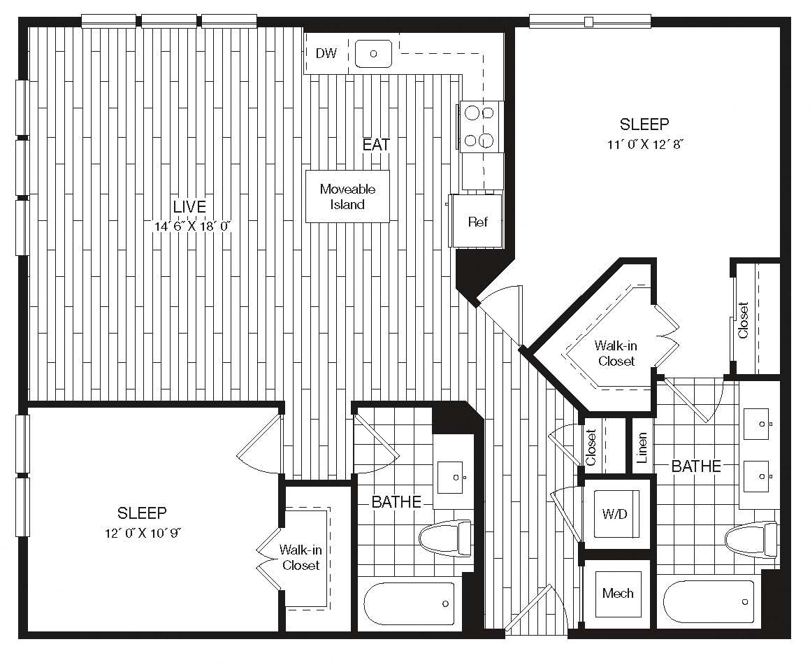 Apartment 27-414 floorplan