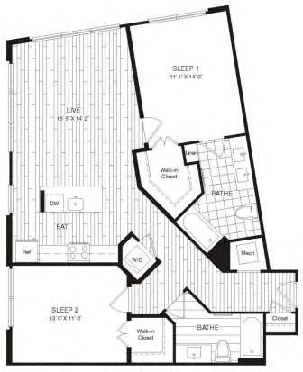 Apartment 29-437 floorplan