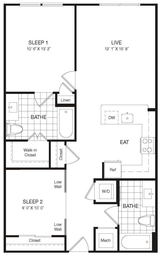 Apartment 29-423 floorplan