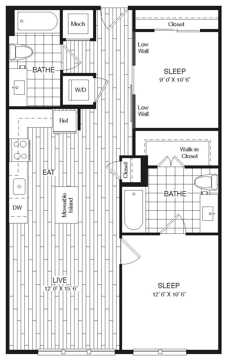 Apartment 27-201 floorplan