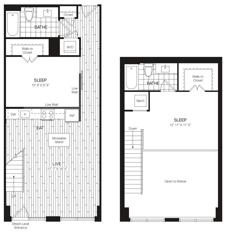 Apartment 27-110 floorplan