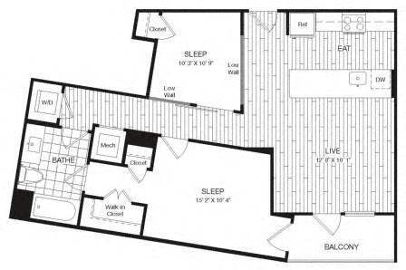 Apartment 29-627 floorplan