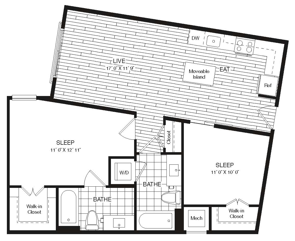 Apartment 27-227 floorplan