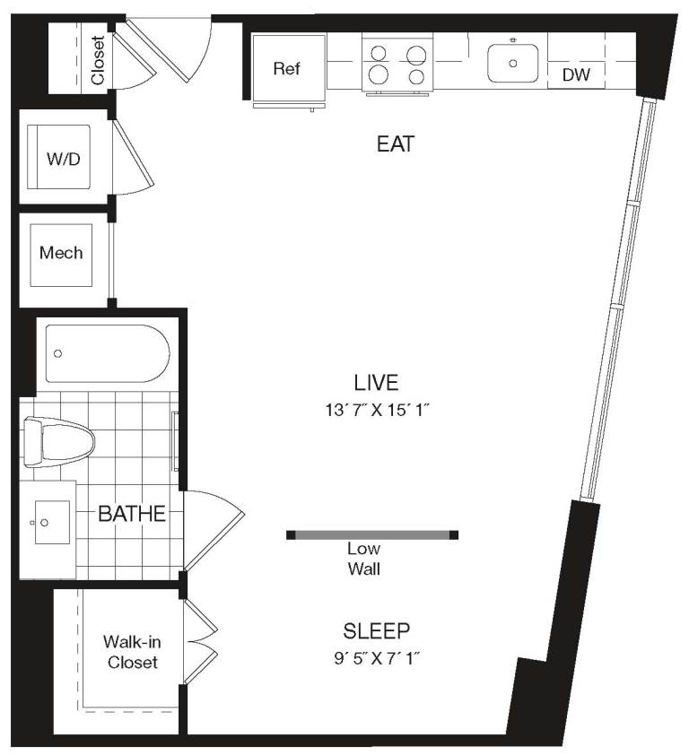Apartment 29-111 floorplan