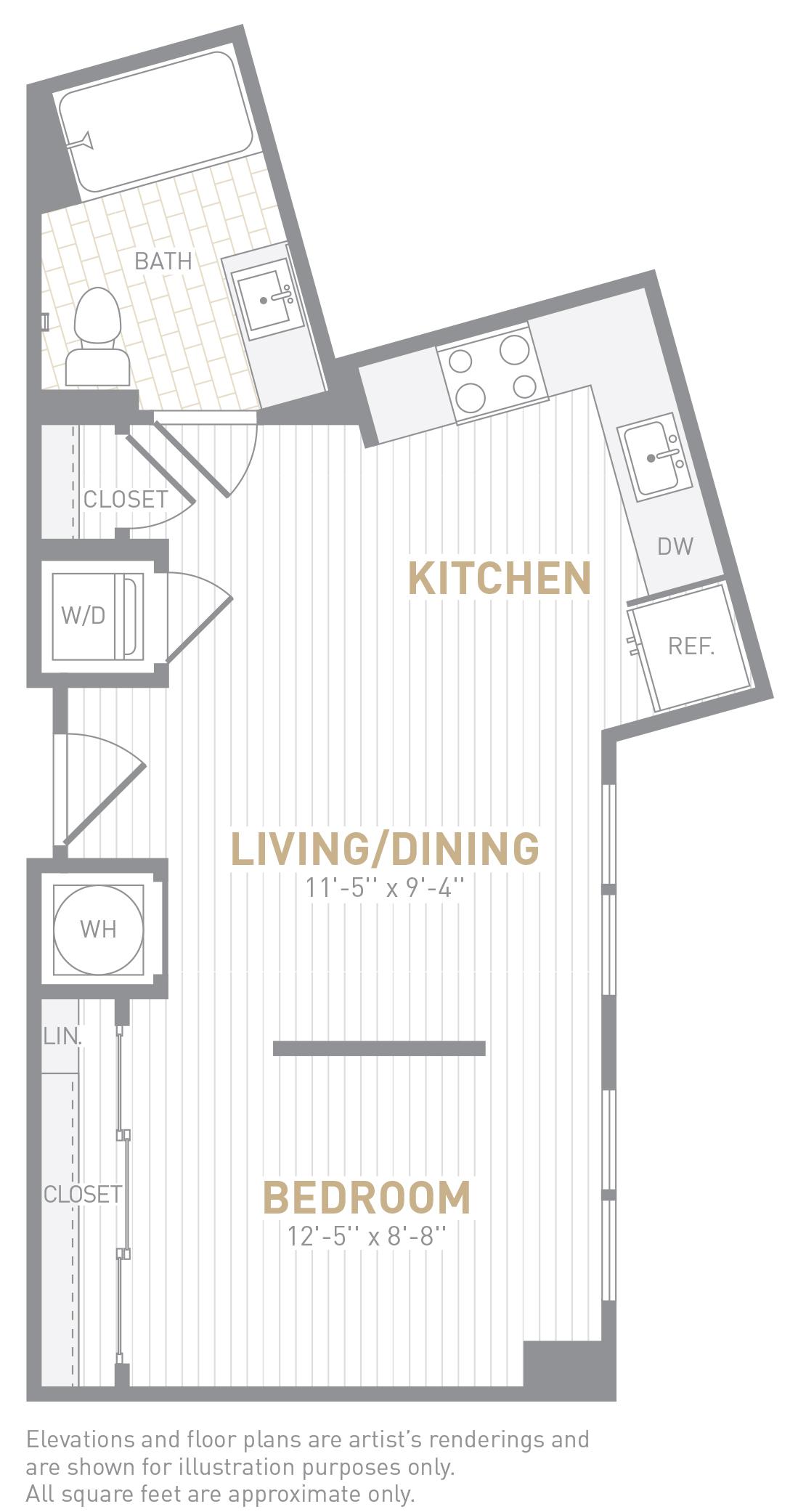 floor image of unit 0325