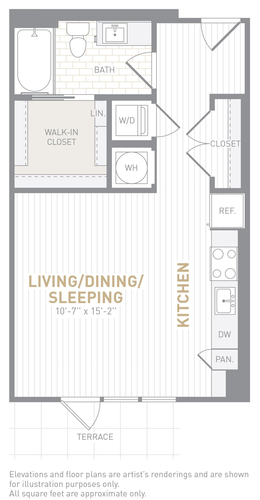 floor image of unit 1107