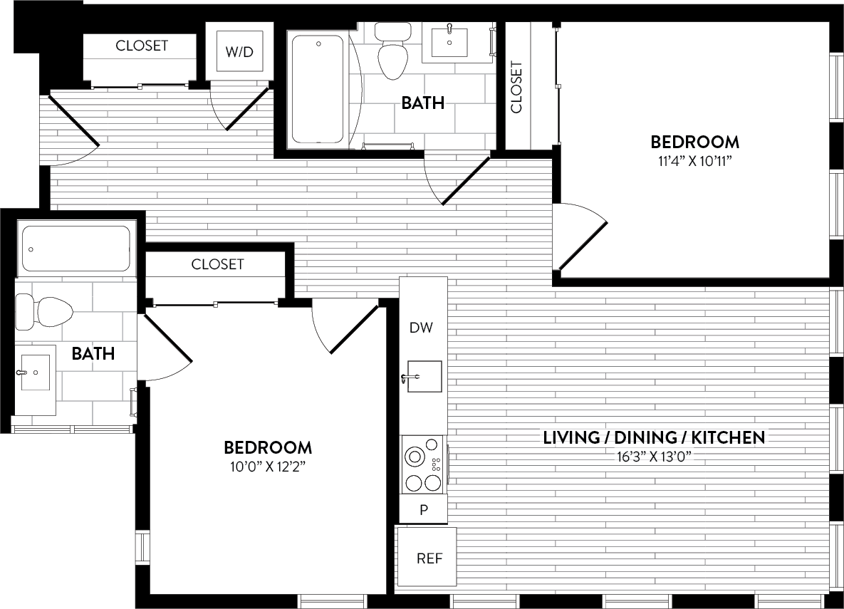 APT. A-401 floor plan thumb