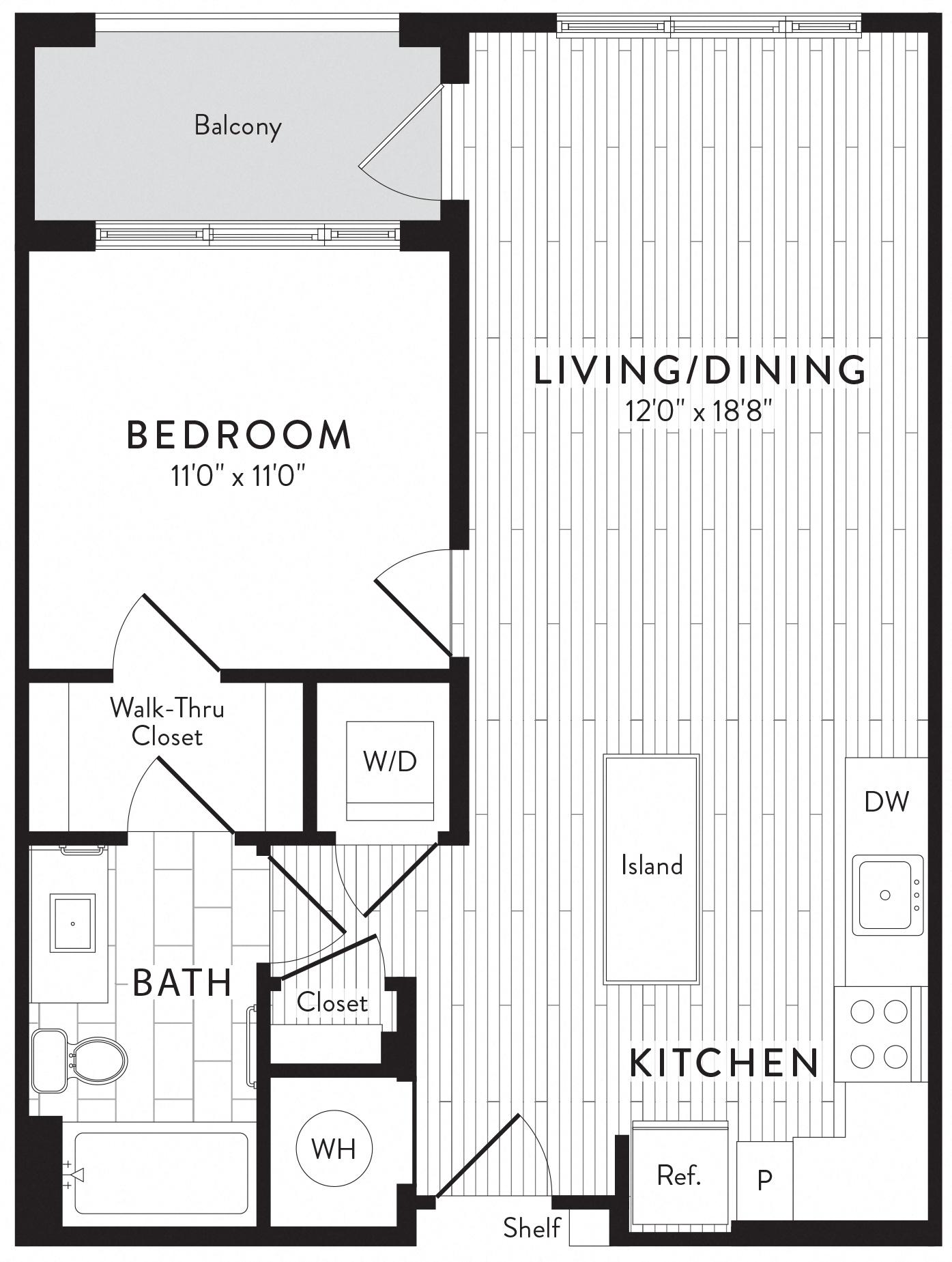 APT. 618 floor plan thumb