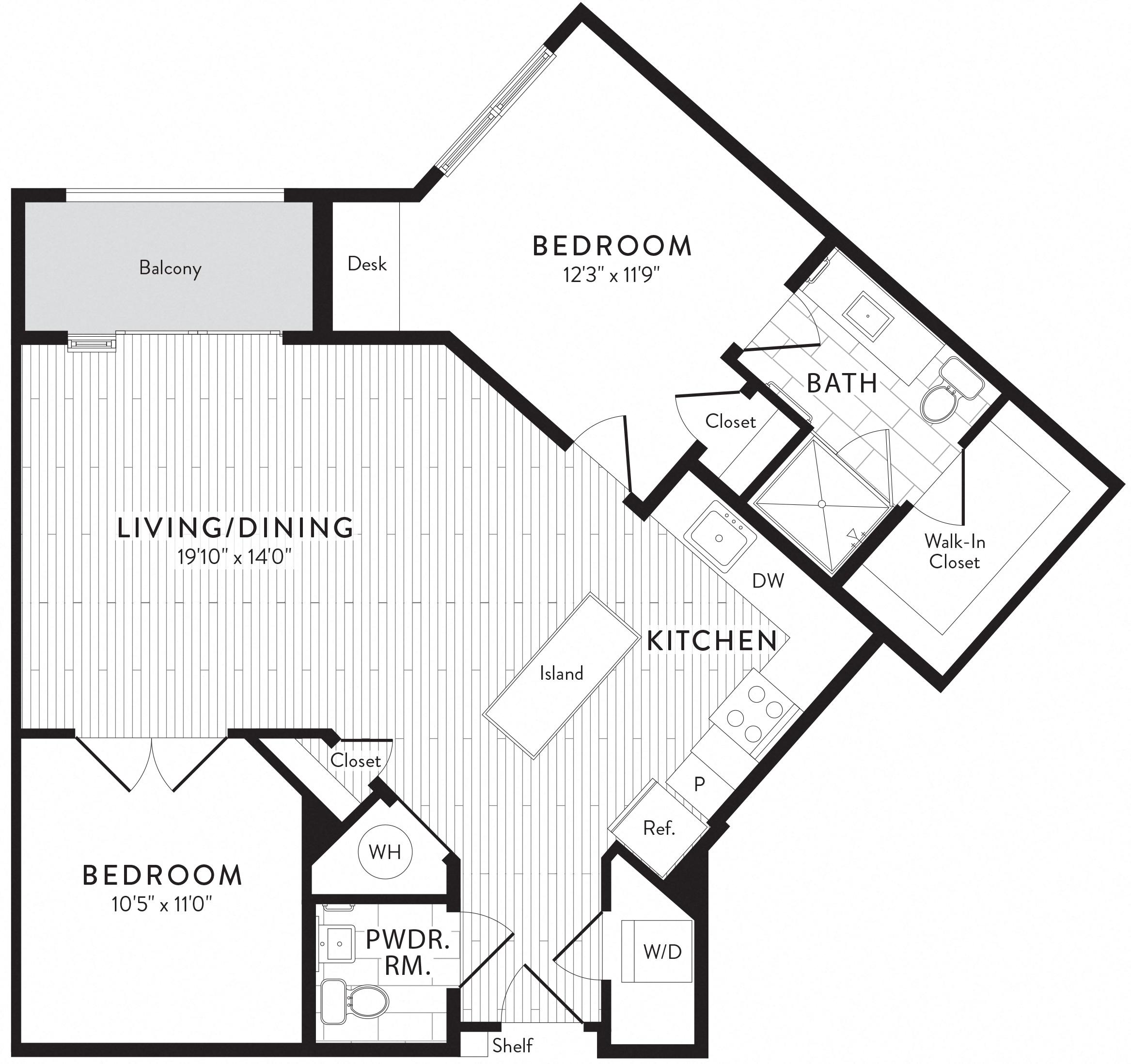 APT. 416 floor plan thumb