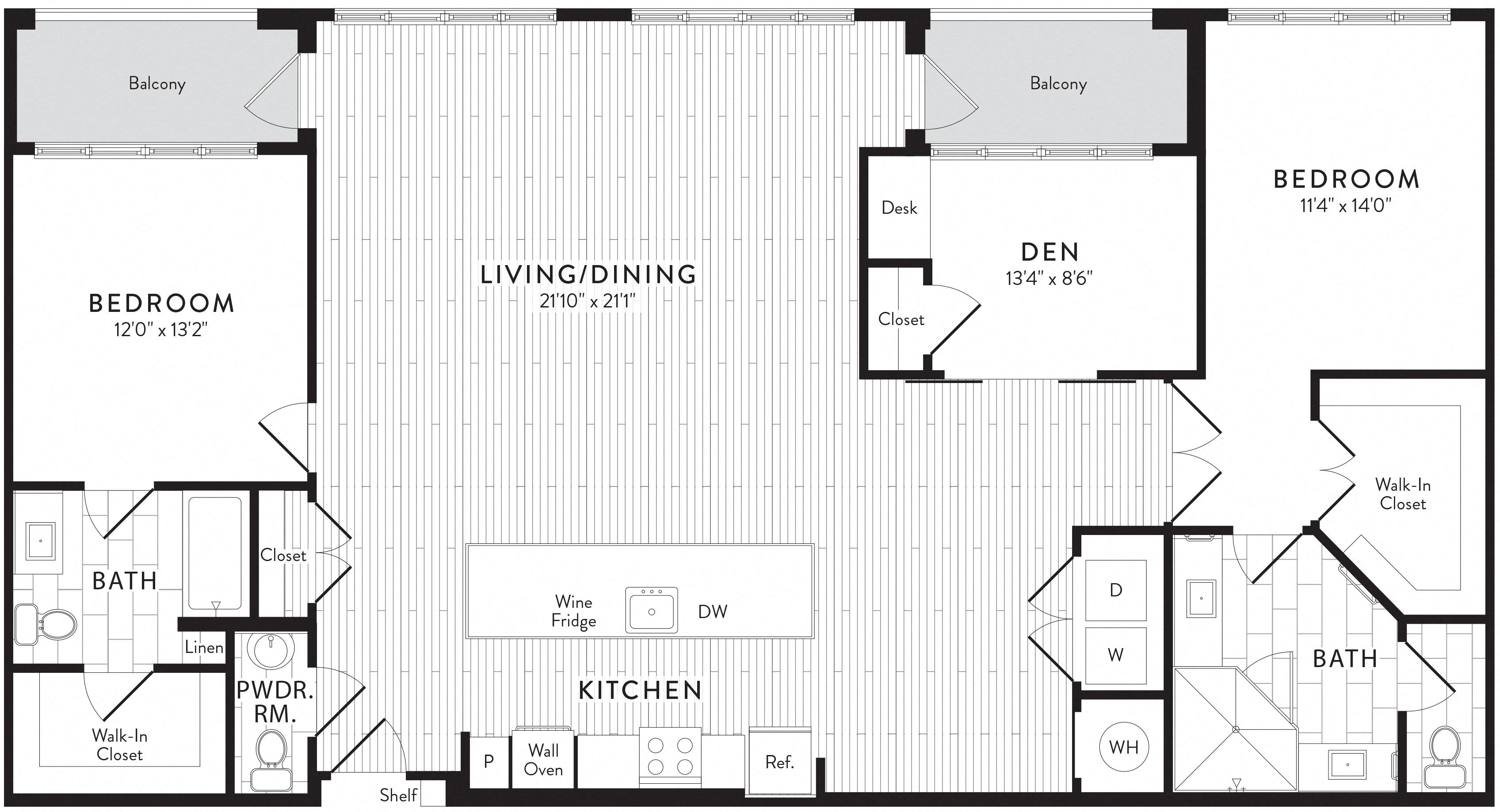 APT. 840 floor plan thumb