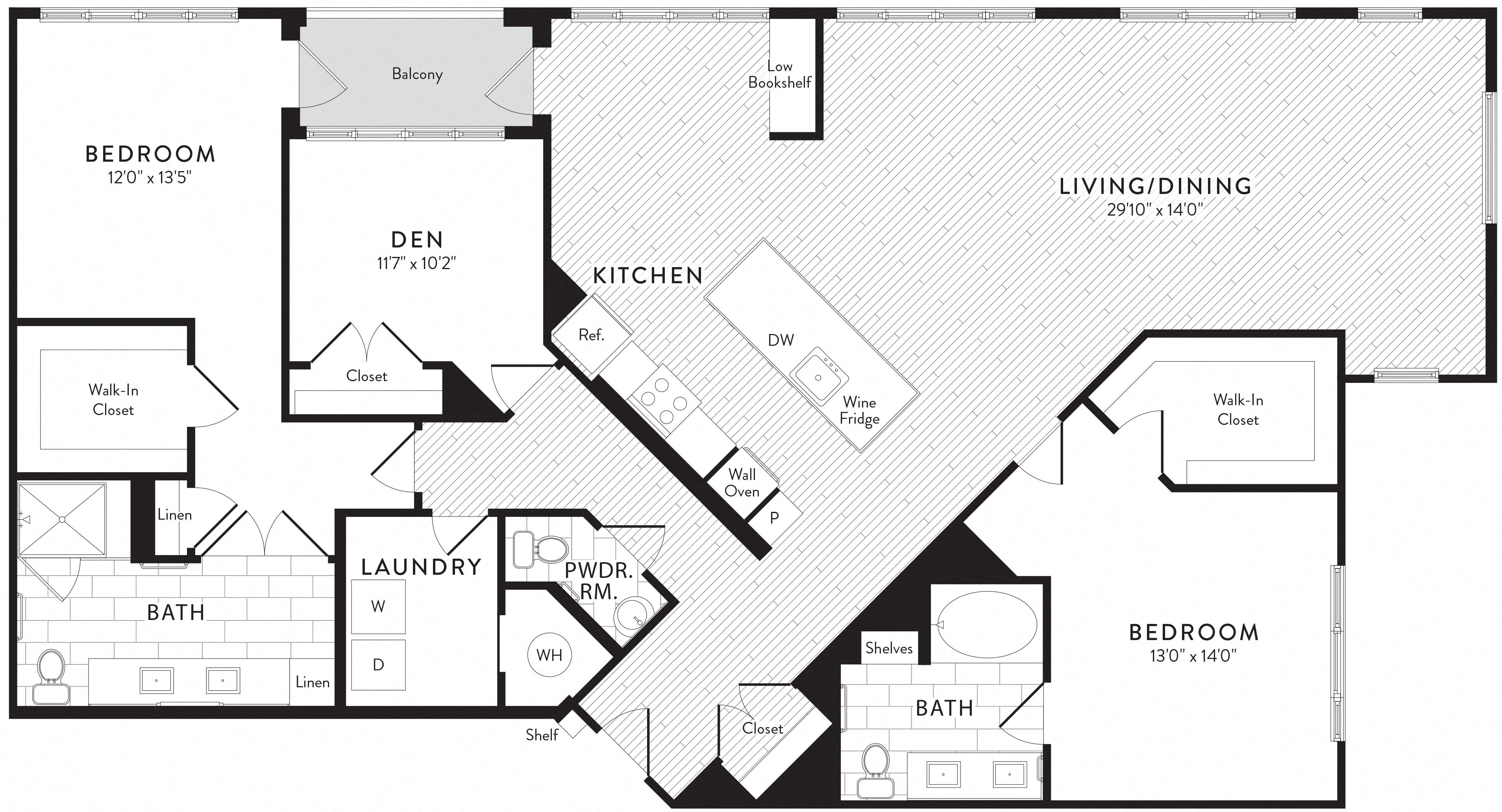 APT. 838 floor plan thumb