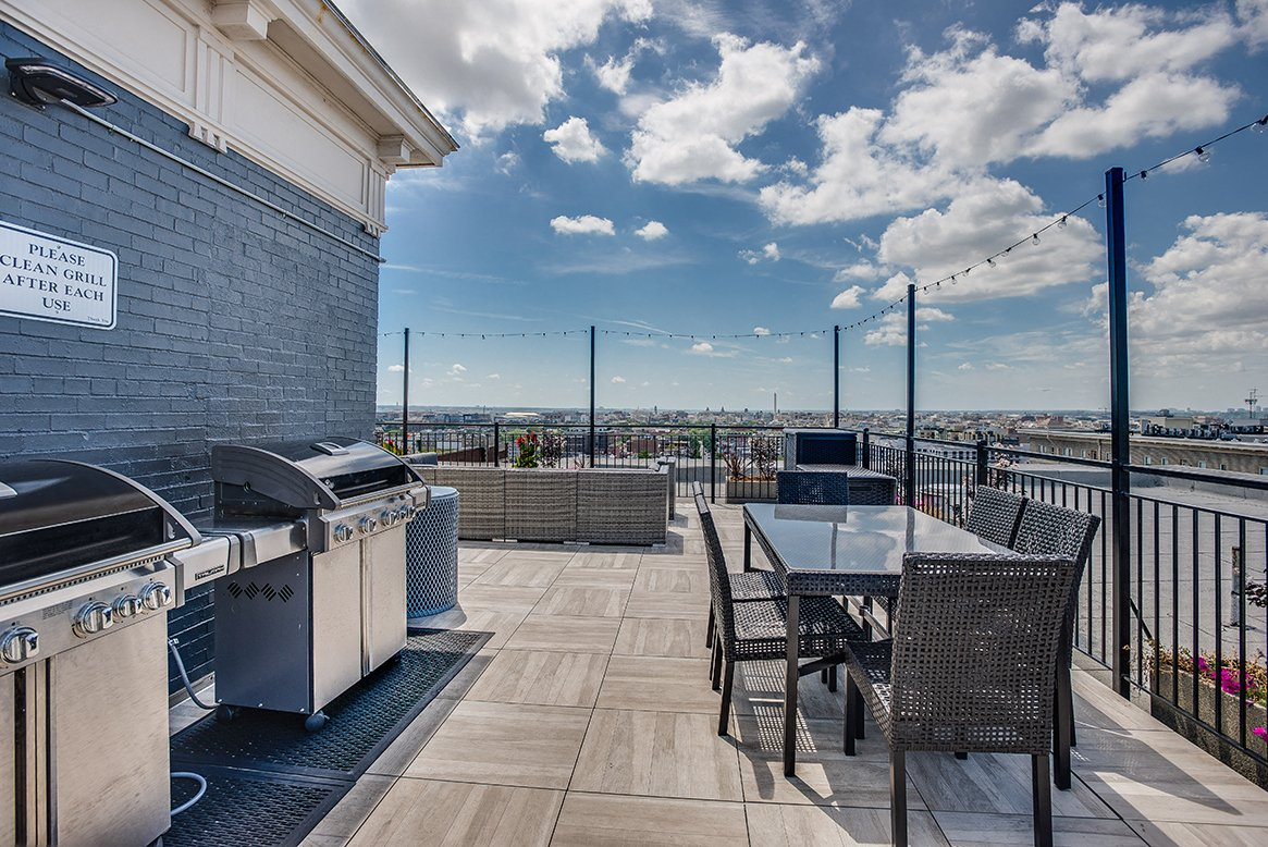 Highview Castle Manor Apartments Rooftop With Grills Near Columbia Heights  And U Street Washington DC Ideas