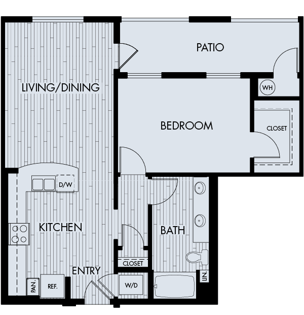 88 at Alhambra Place Apartments Alhambra 1 bedroom 1 bath Plan 1D