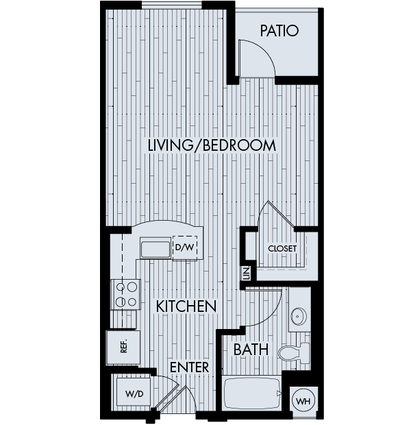 88 at Alhambra Place Apartments Alhambra 0 bedrooms 1 bath Plan SA