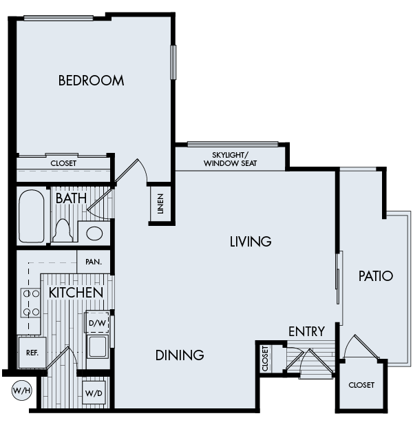 creekside village apartments fremont one bedroom one bathroom floor plan 1b