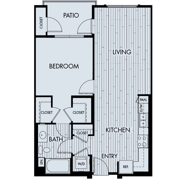 Reata oakbrook village apartments laguna hills one bedroom one bathroom floor plan 1b