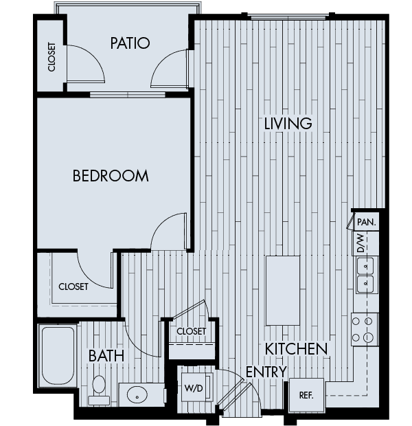 Reata oakbrook village apartments laguna hills one bedroom one bathroom floor plan 1c