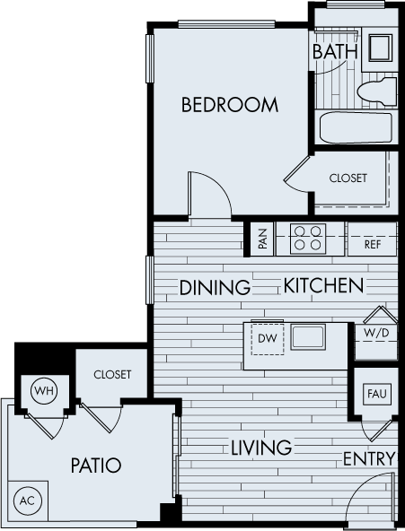 seabrook apartments dana point one bedroom one bathroom plan 1a