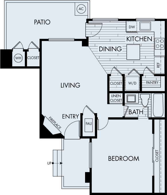 seabrook apartments one bedroom one bathroom plan 1c