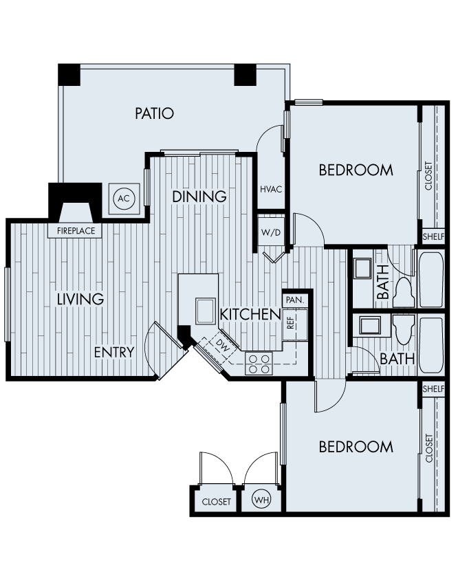 seabrook apartments dana point two bedroom two bathroom plan 2a