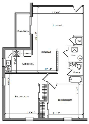 Two Bedroom Balcony