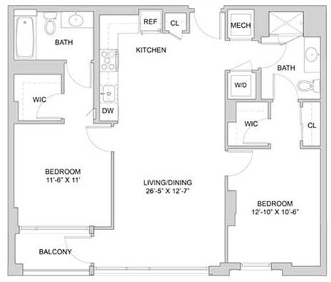 Apartment Floor Plans New Apartments The Modern At Art Place