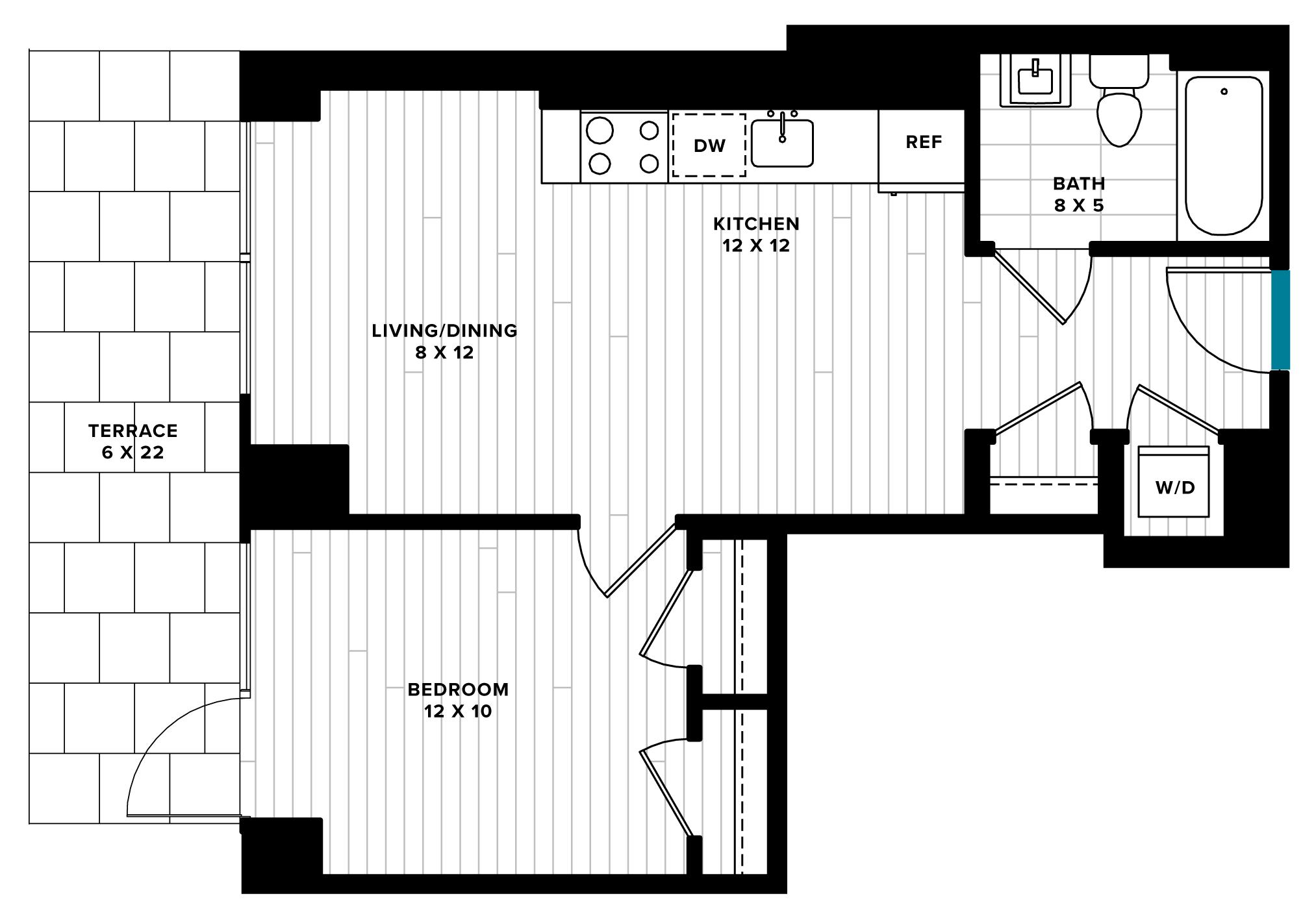 floorplan image of unit 0311