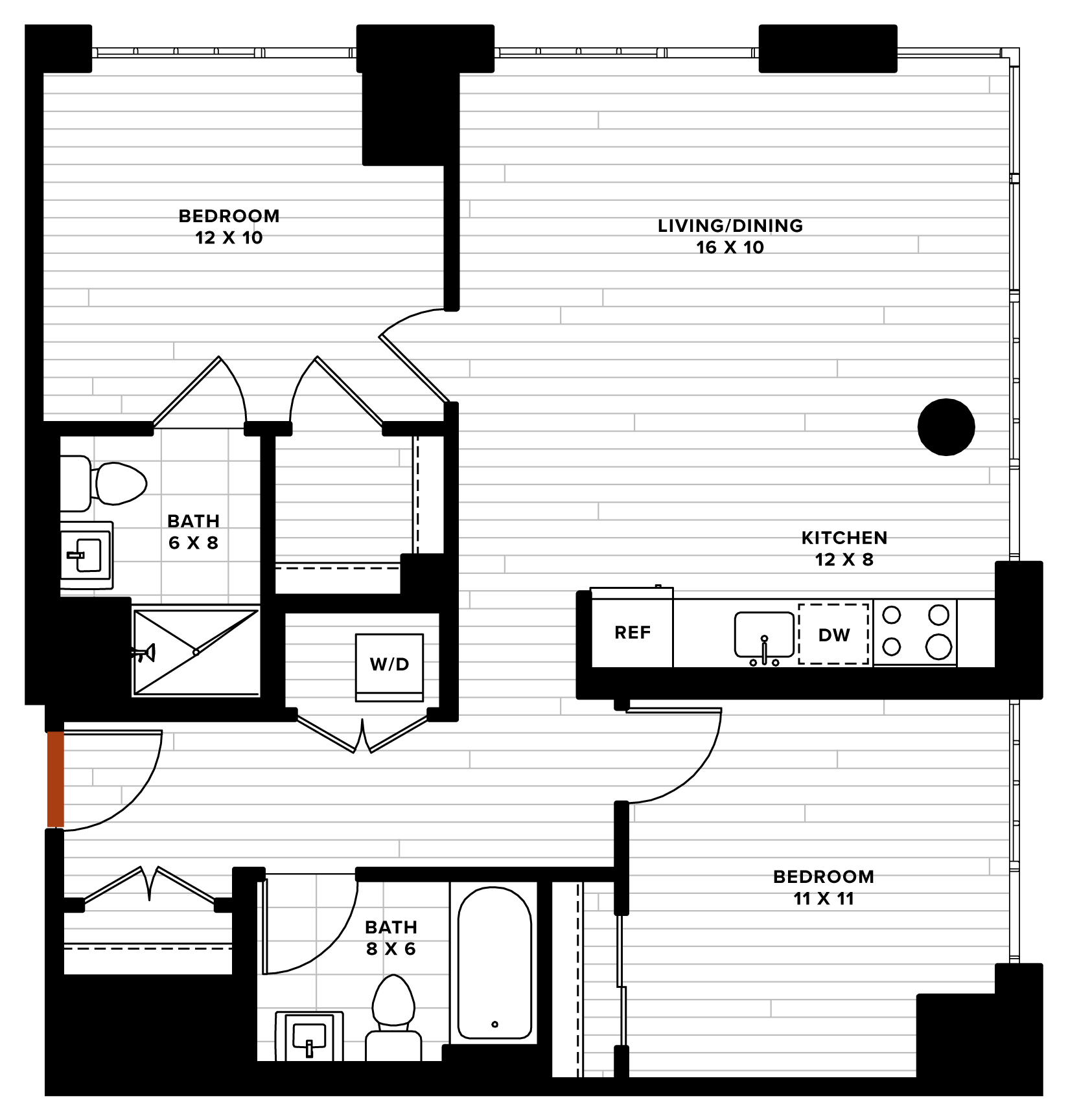 floorplan image of unit 0718