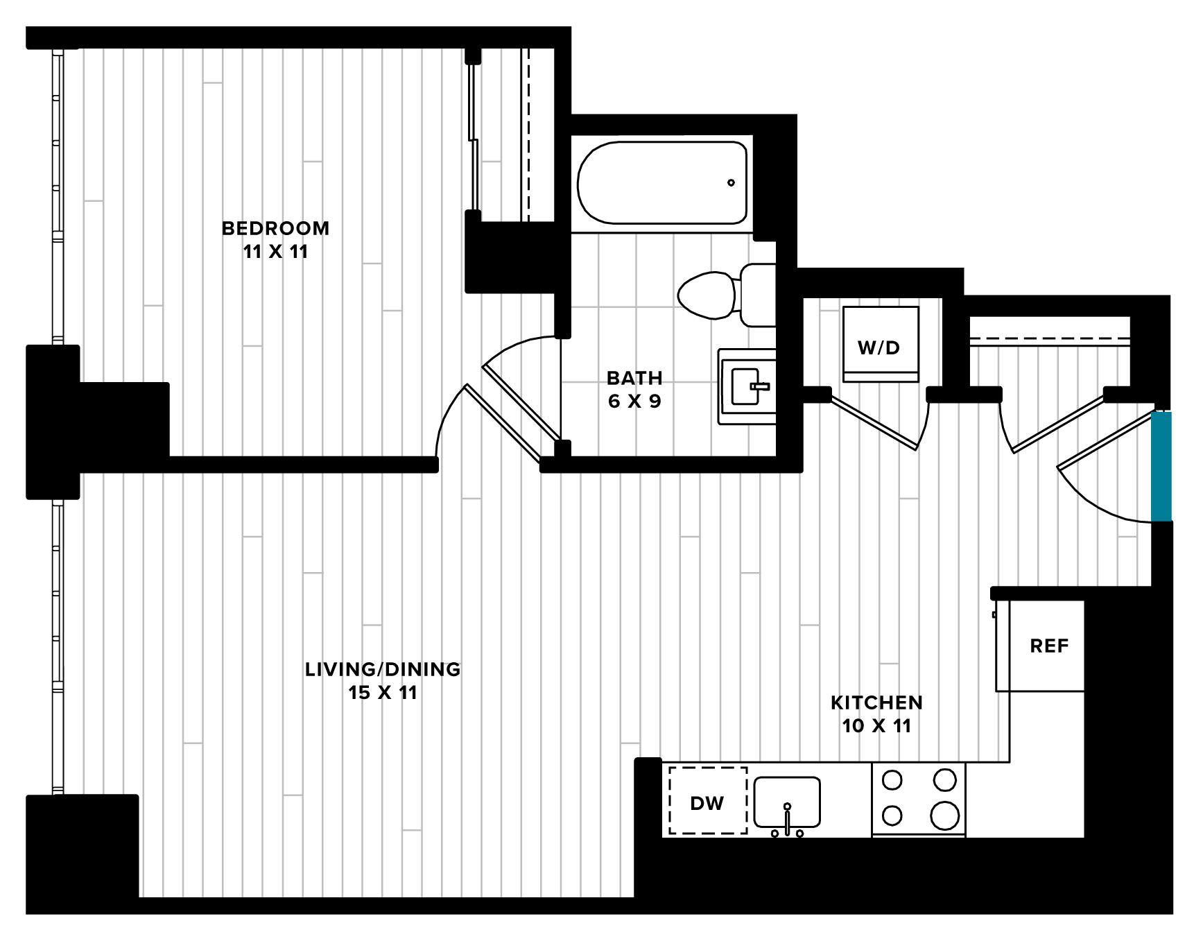 floorplan image of unit 0817