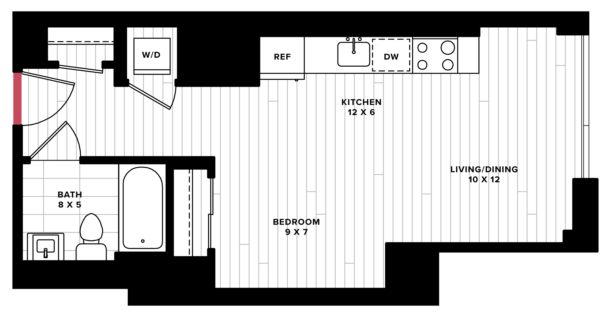 floorplan image of unit 0706