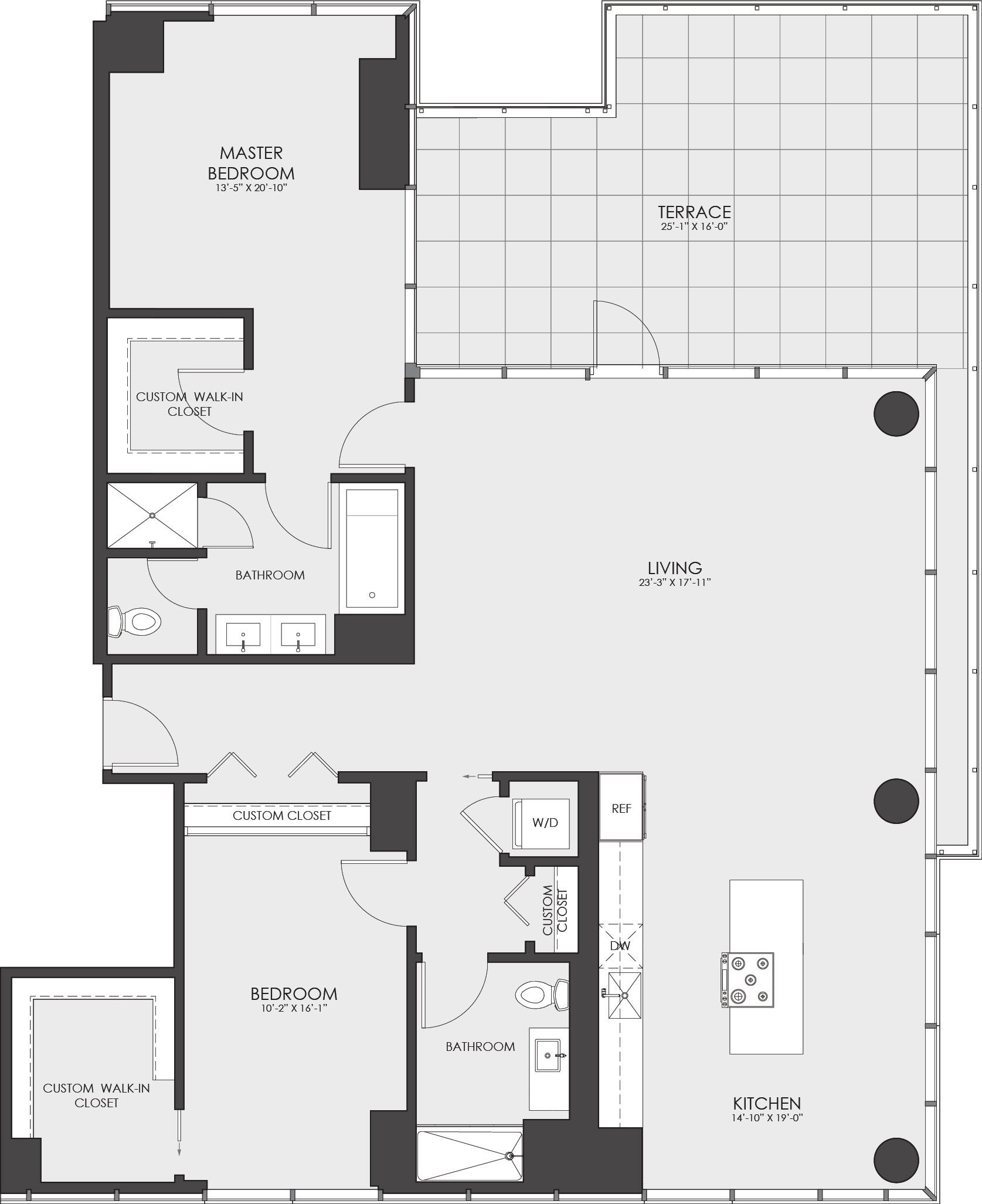 P0614109 796bcp02 221hubbard ph2b3 1694 2 floorplan