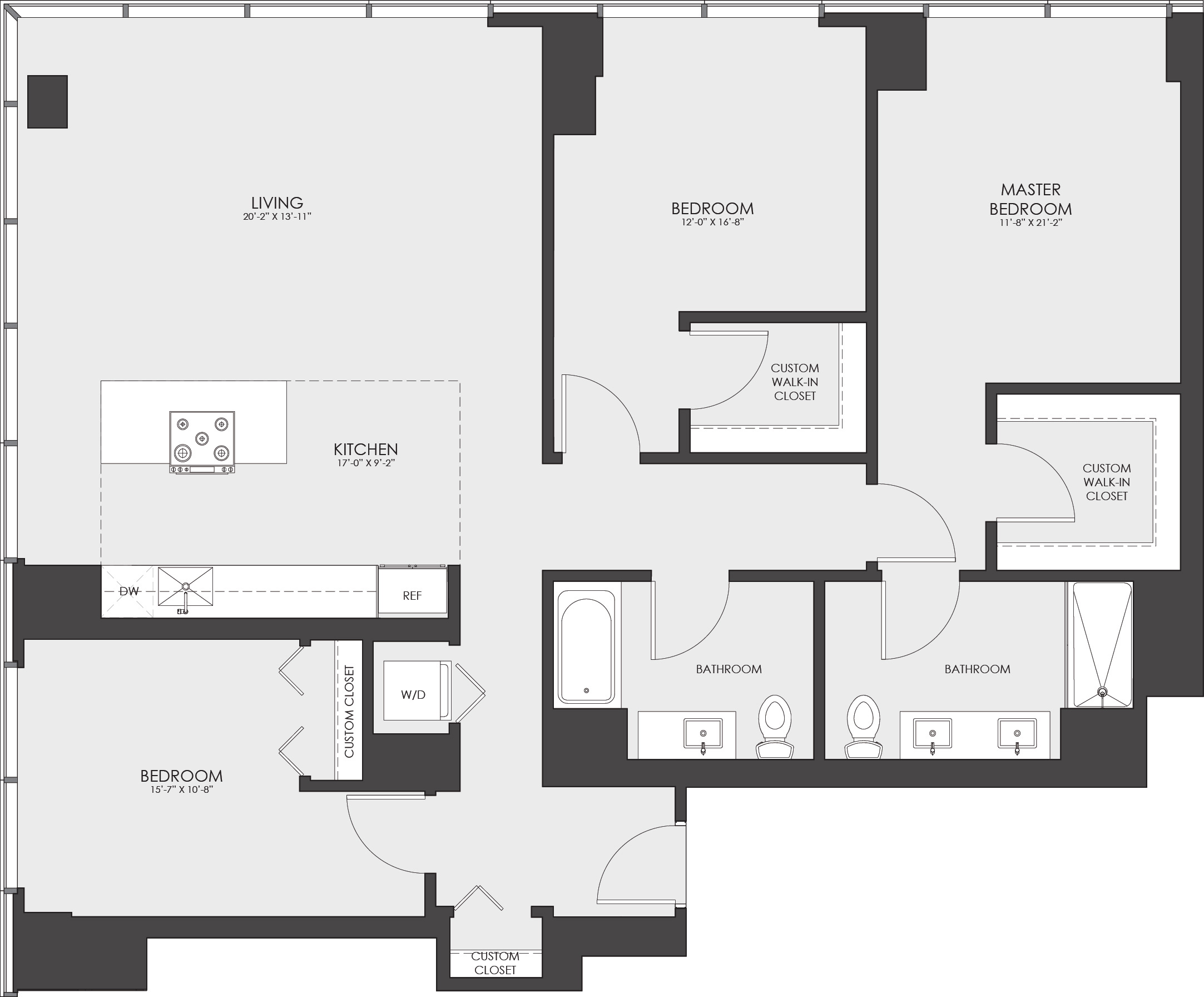 View HUBBARD221 Apartment Floor Plans