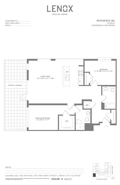 P0614246 b5 terrace 2 floorplan