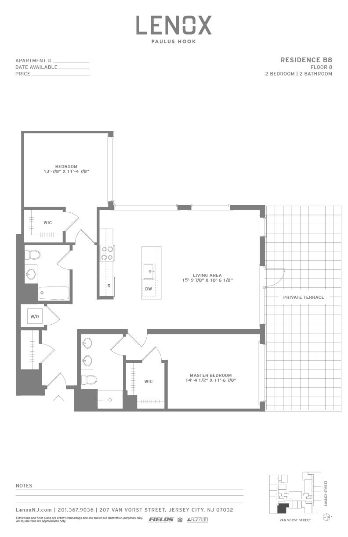 P0614246 b8 terrace 2 floorplan