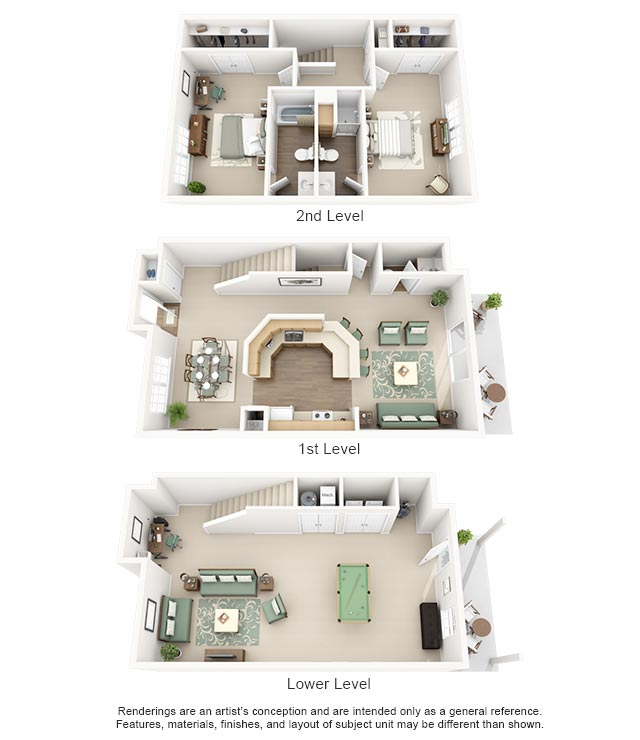 apartment 3 bedroom. Cooper Creek Apartments Plan G 1  2 3 Bedroom for Rent