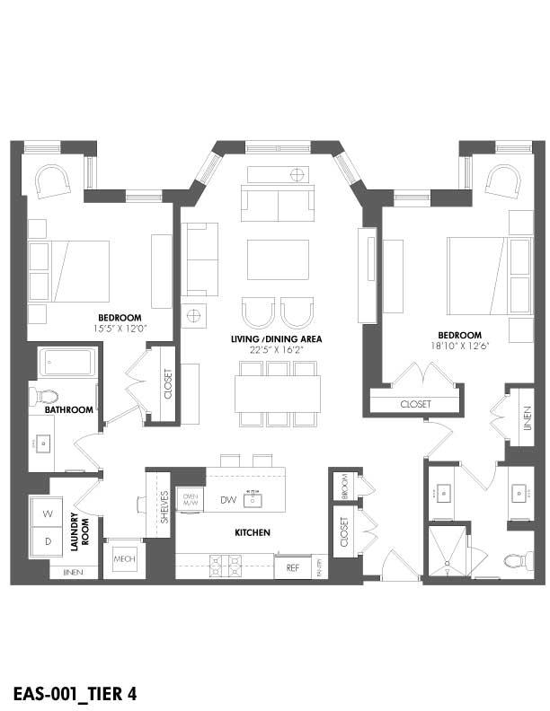 Apartment 108 floorplan