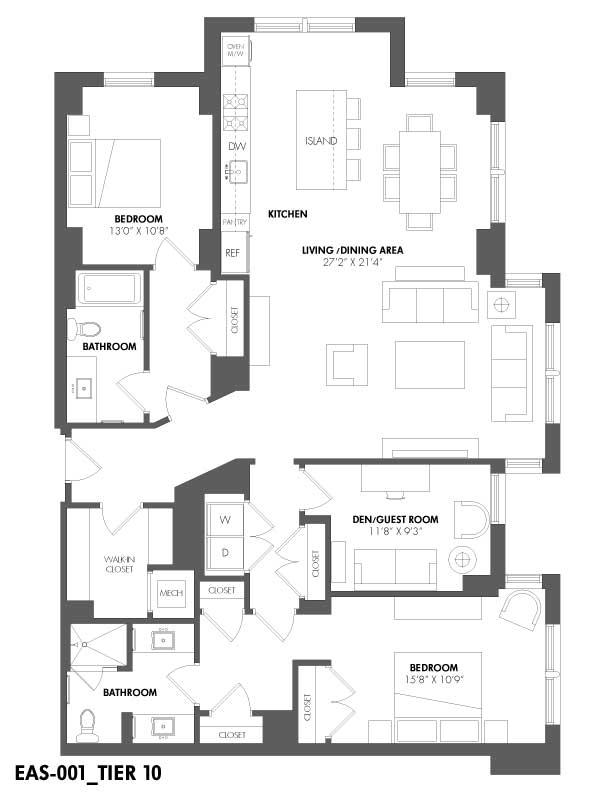 Apartment 408 floorplan