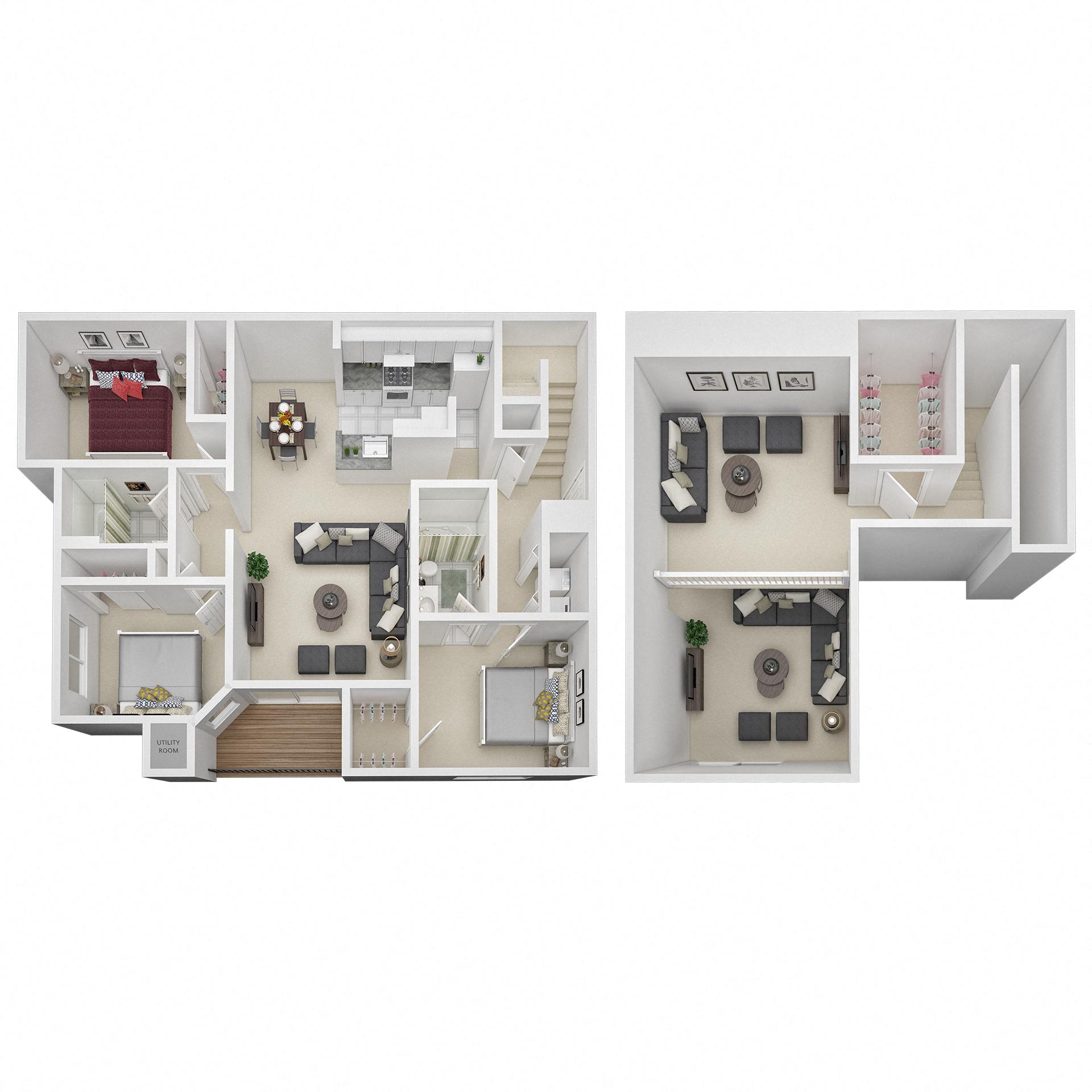 1469 3bed fp loft