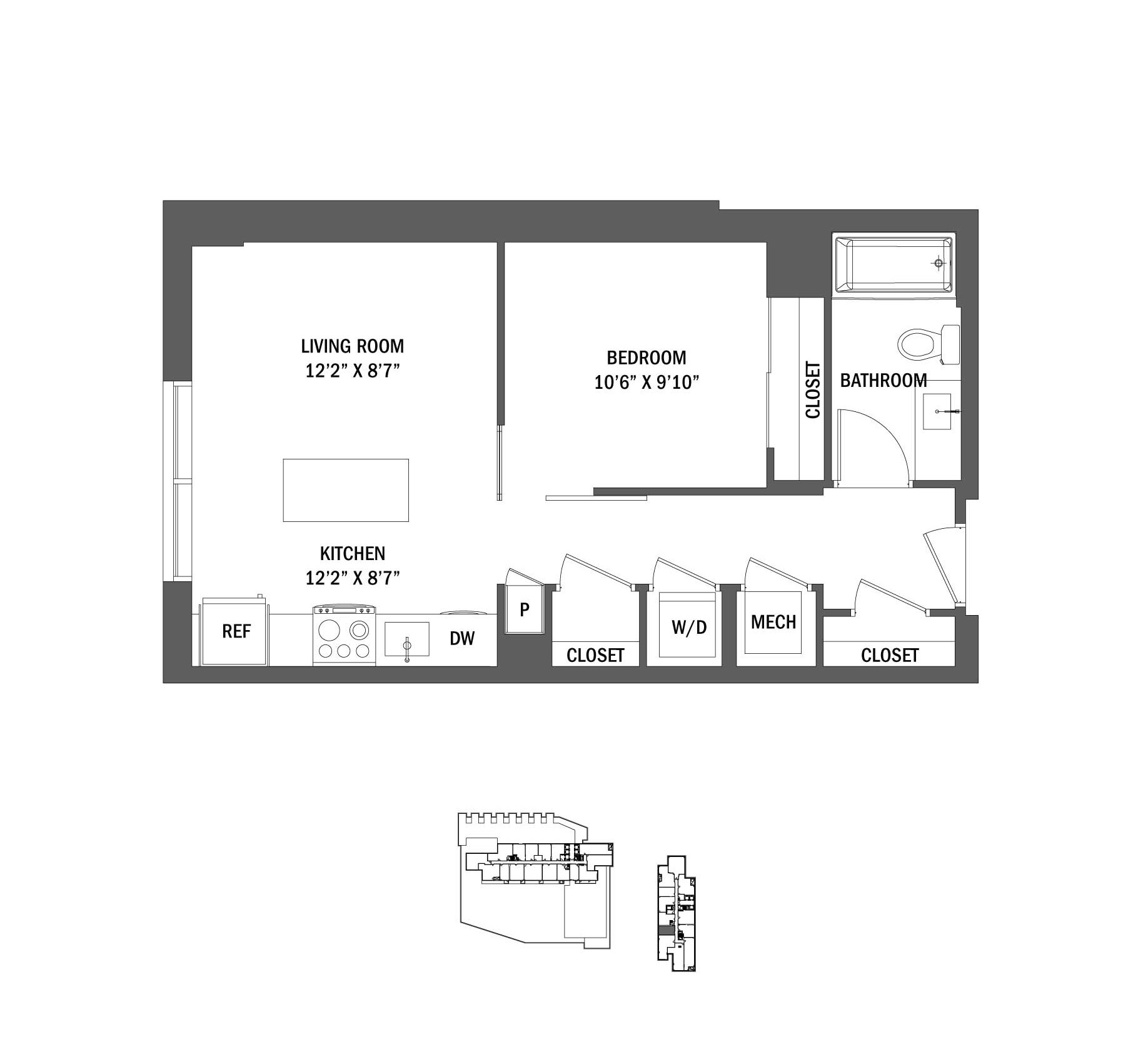 Studio, 1, 2, & 3 Bedroom Apartments