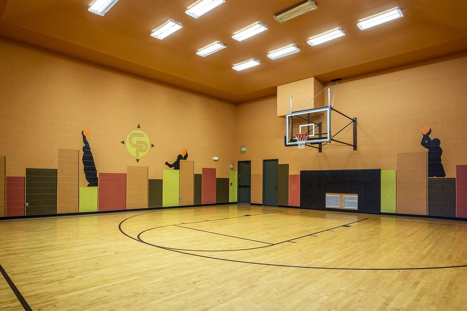 In-Door Half-Court Basketball/Sports Court