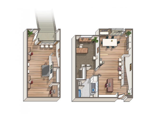 The Bazille floor plan at 1801 L | Sacramento, CA 95811