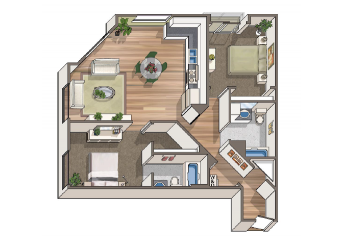 The Duchamp floor plan  at 1801 L | Sacramento, CA 95811